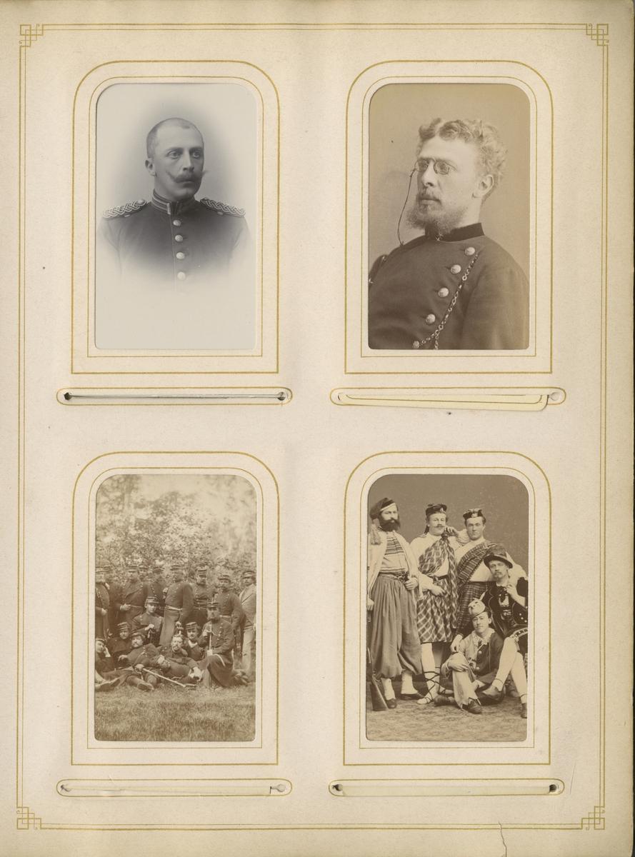 Grupporträtt av officerare i Hildingslund den 29 juni 1875.