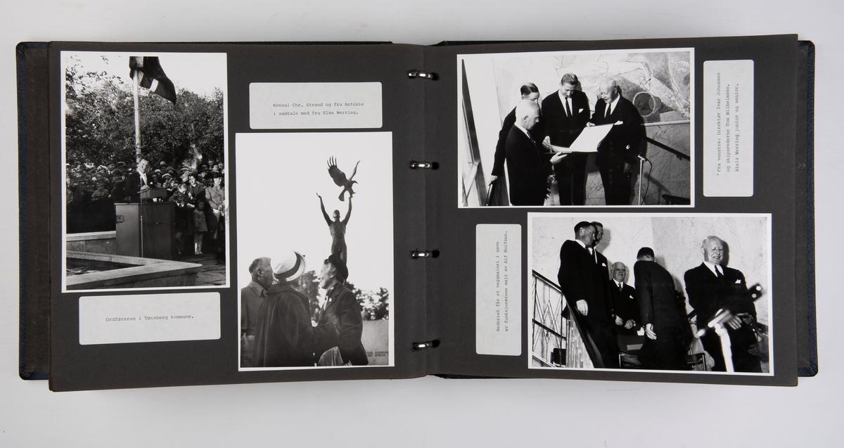 Album om Wilh. Wilhelmsens 100-års jubileum 1961 : fra utstillingen på Vestfold fylkesmuseum i Tønsberg.