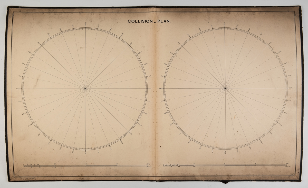 Plottekart laget for navigasjon der kystlinjer og vanndybder ikke påvirker navigasjonen.