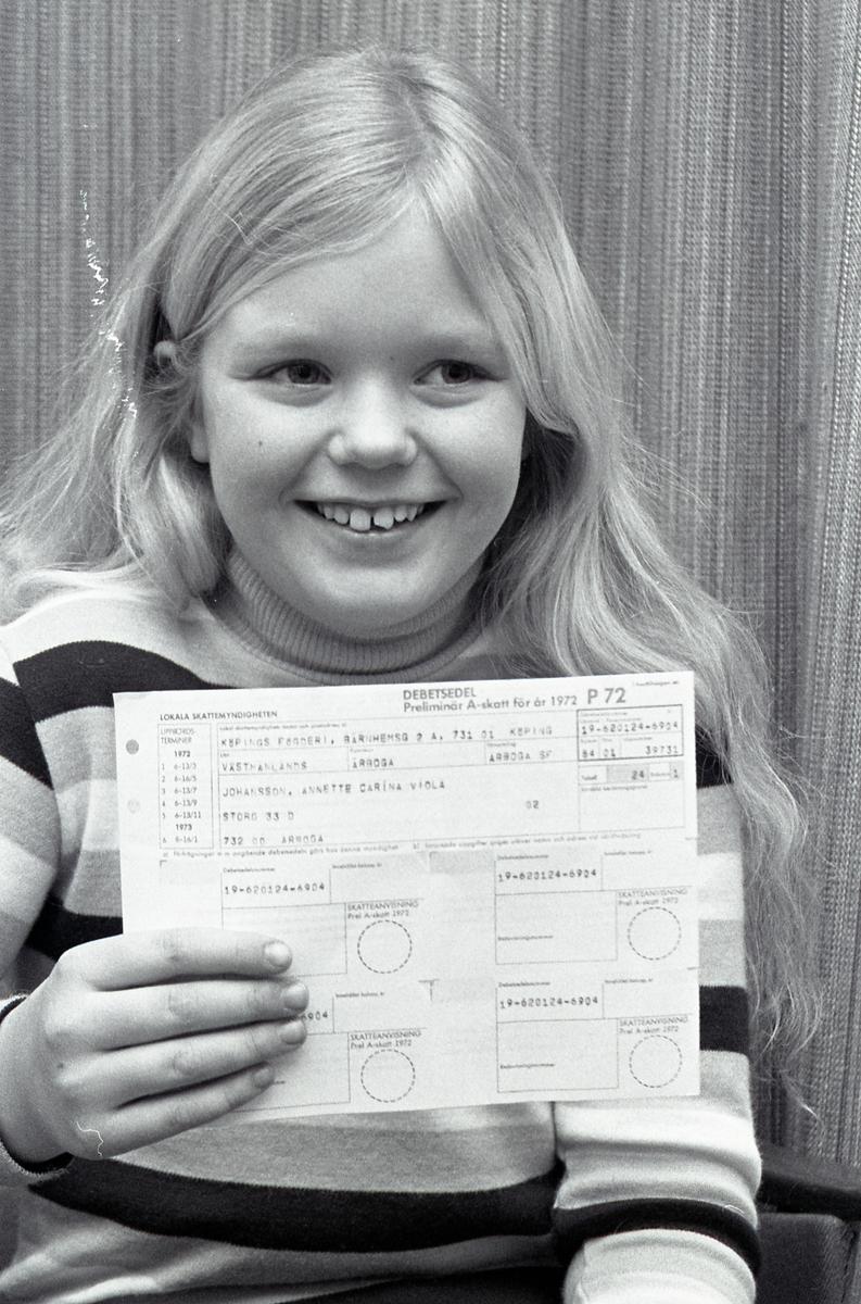 Annette Johansson 10 år har fått skattsedel