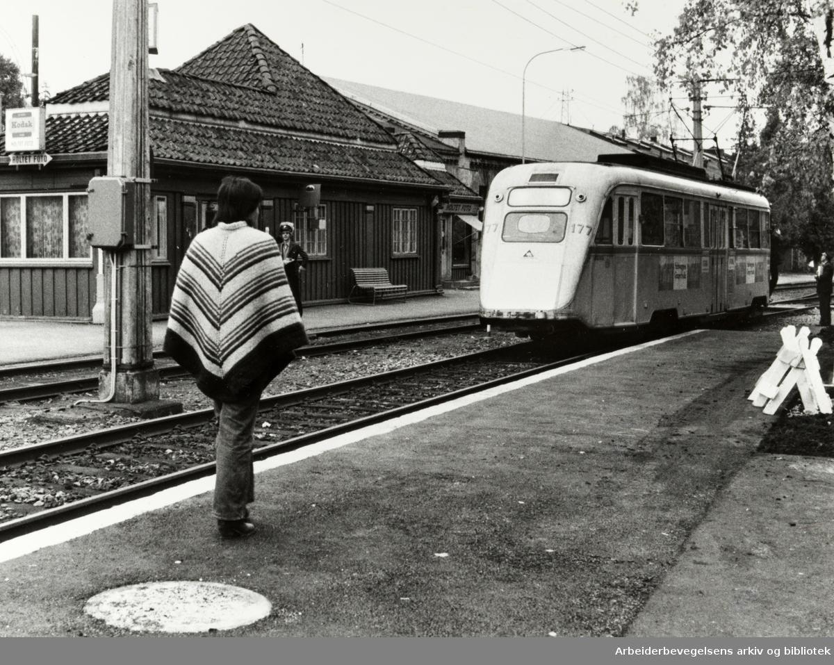 Holtet stasjon. Oktober 1982