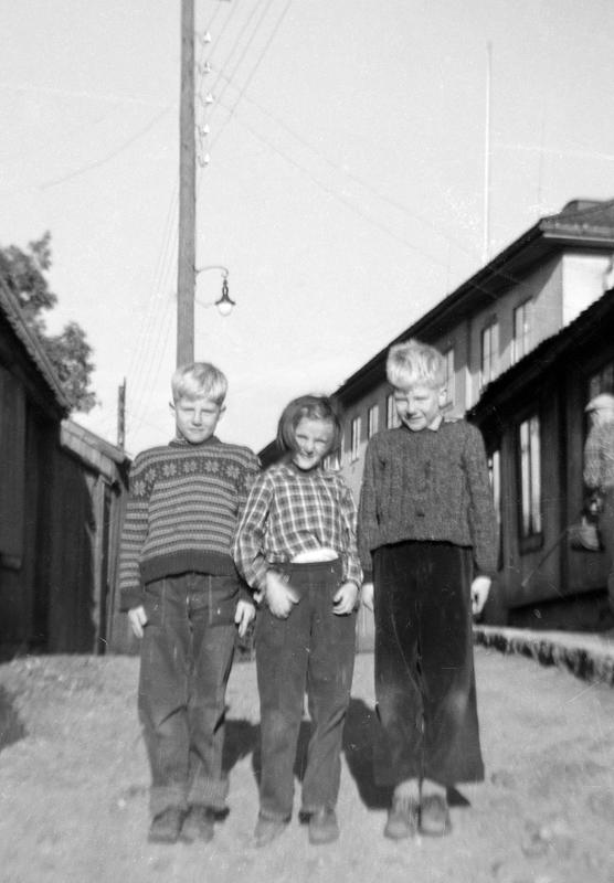 Her er vennegjengen Roger, Turid og Kent øverst i Langleiken 13. Denne vennegjengen ble ofte sett på som en enhet. Disse tre har opplevd mange ting sammen som nå er minner fra en tid da ansvar og alvor ikke fantes. Disse tre kan godt være symbolet på enighet og kameratskap.