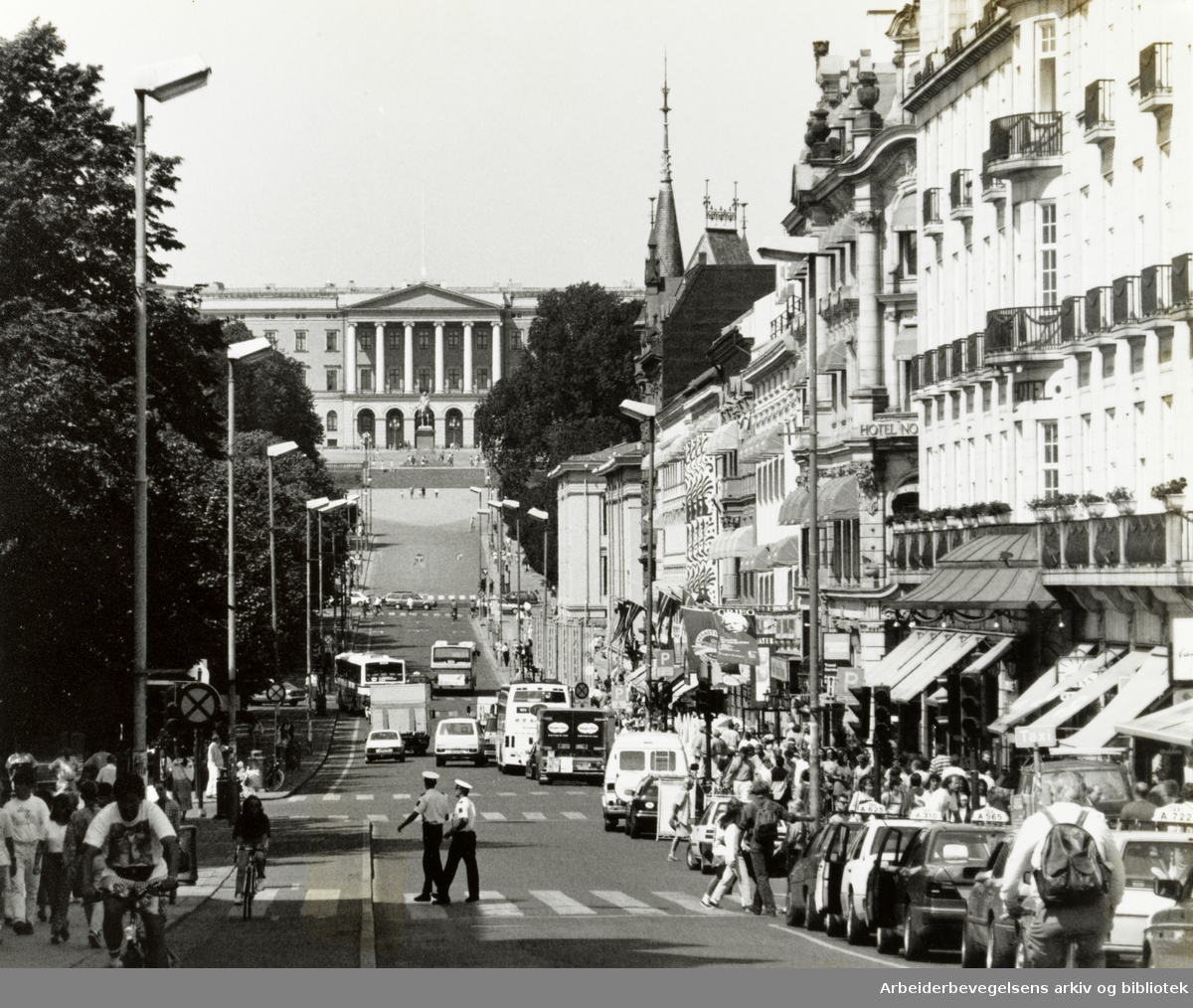 Karl Johans gate. 8. juli 1993