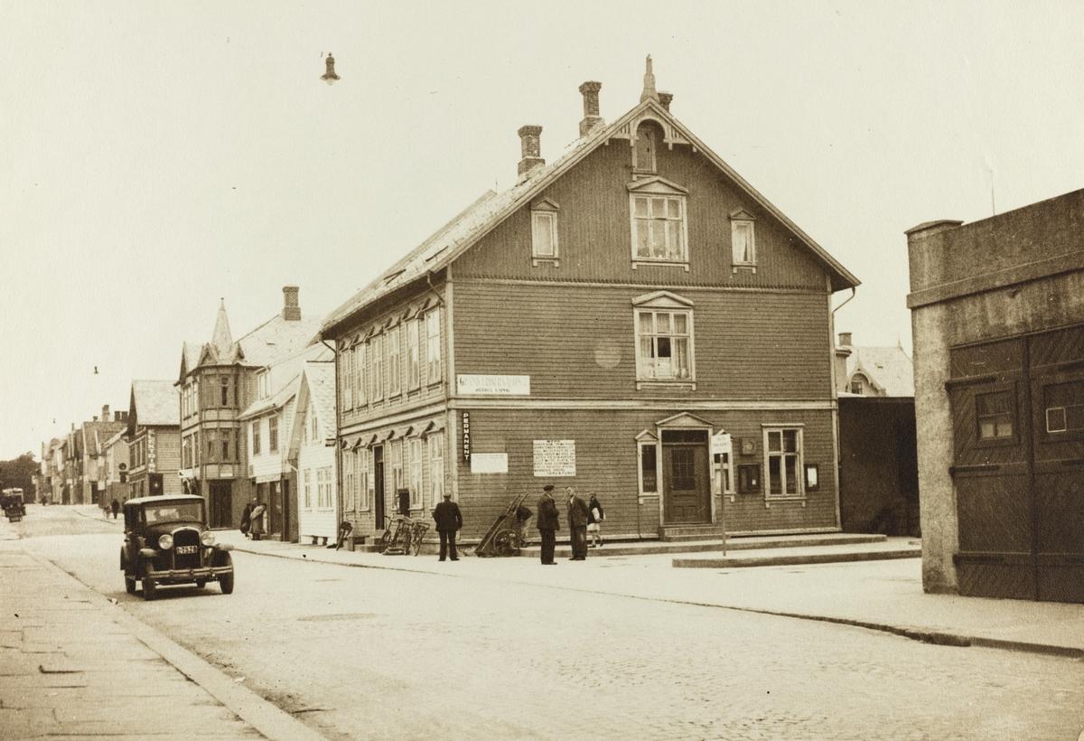 Sørhauggaten sett mot nord, ca. 1938.