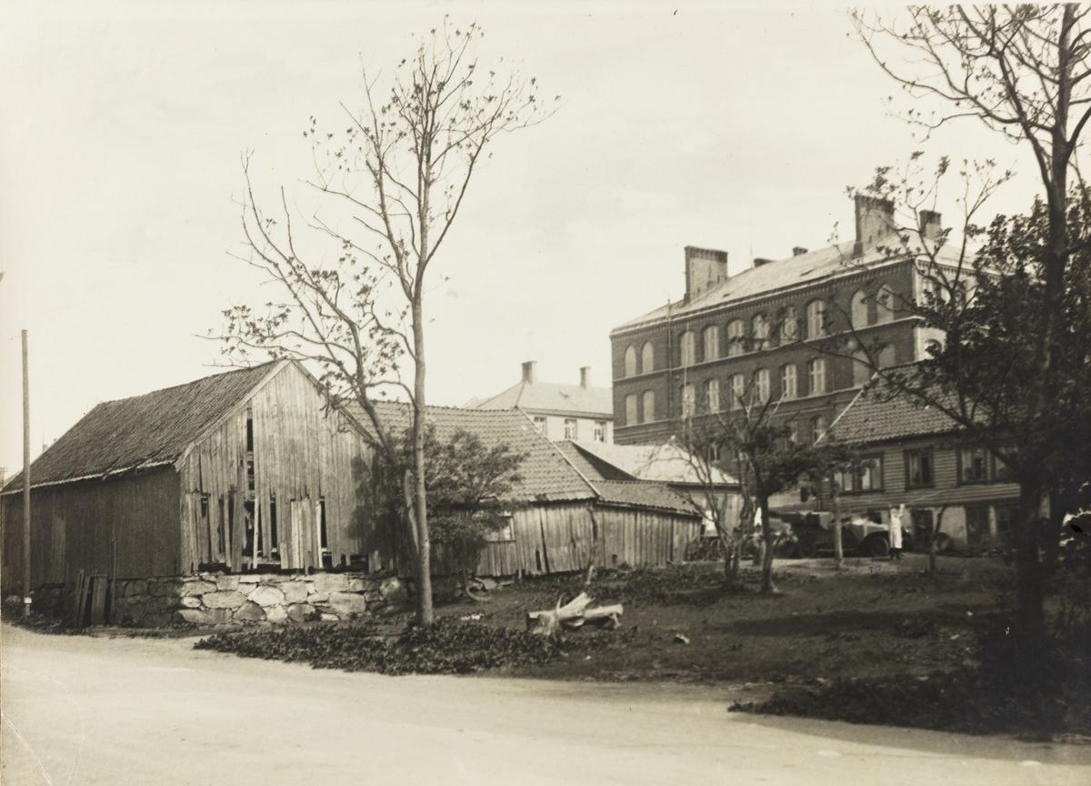 Sørhauggaten sett mot nordøst, ca. 1938.