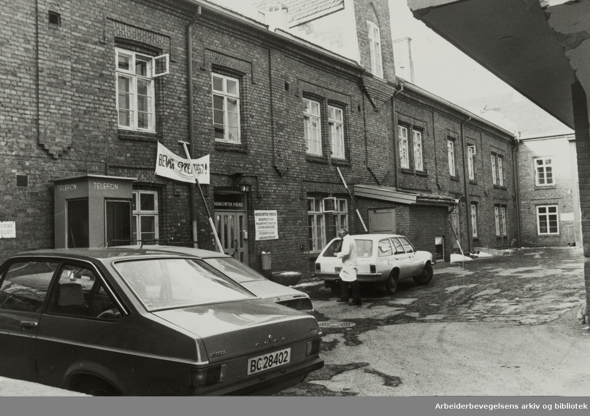 Kroghstøtten sykehus. Februar 1980