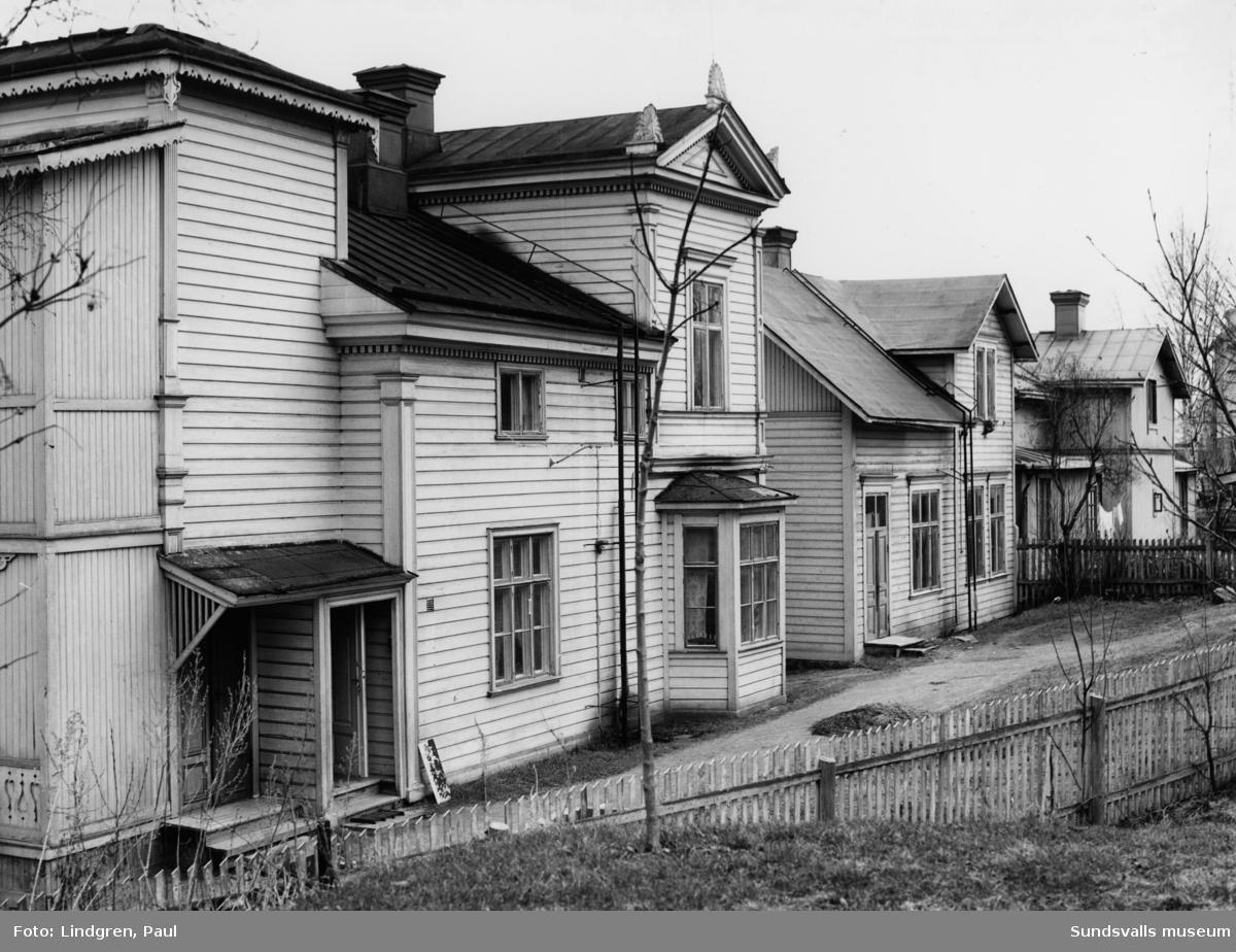 """Södra Allén 14. """"Villa Carlshem"""". Inrymde Stadsbibliotekets filial, ungdomsavdelningen åren 1915-1918."""