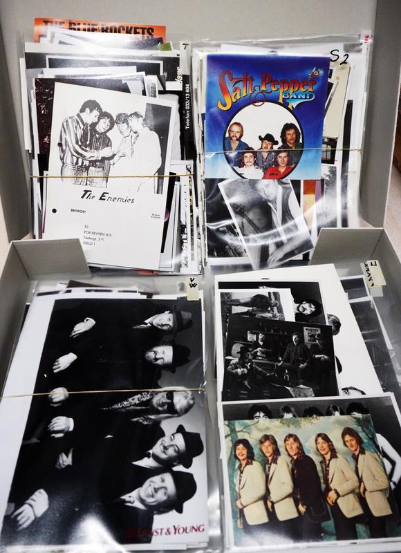 Eksempler på pressefoto fra Flatlands donasjon. Foto: Rockheim.