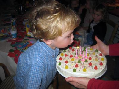 Gustav Flo-Munch på sin fire-års bursdag