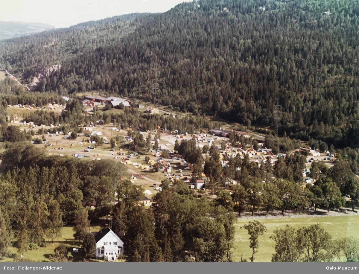 +Bogstad Camping, telt, campingvogner, skog, villa