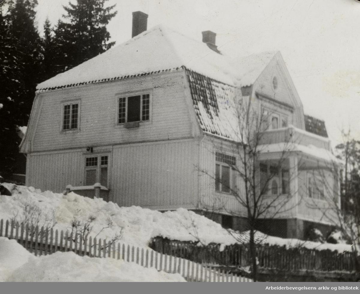 Ljan, Furubottens villa. Februar 1949