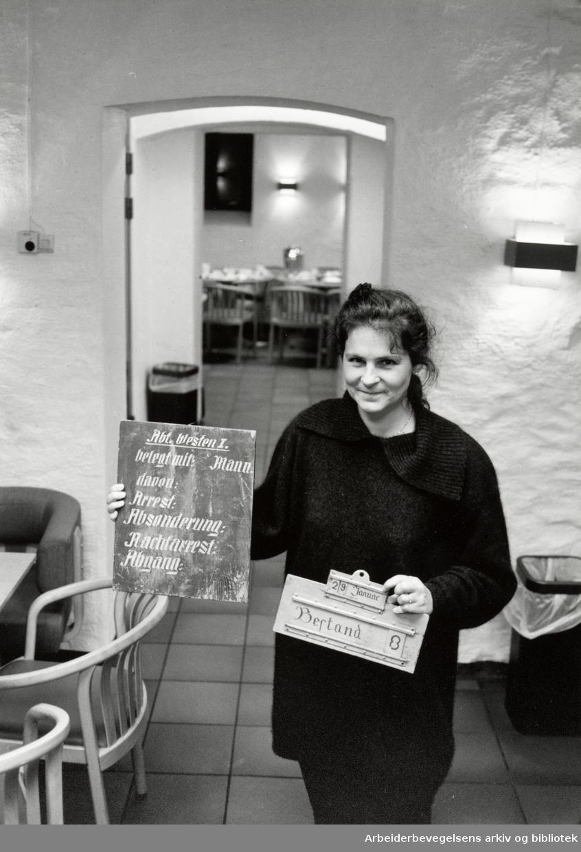 Møllergata 19. Sissel Skaarud. 23. november 1991