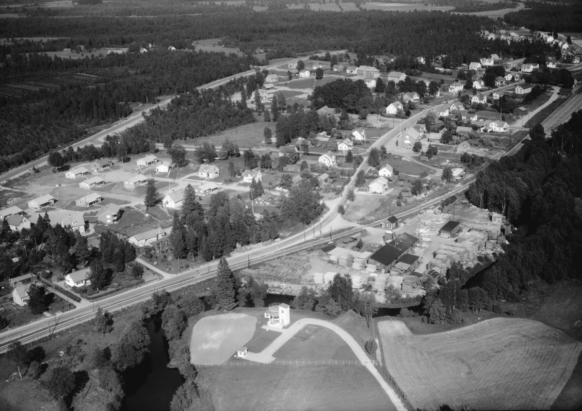 Flygfoto över Forsheda i Värnamo kommun, Jönköpings län. Nr: 152/1960