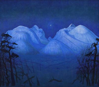 Vinternatt_i_Rondane_1914_opl_160_x_1805_cm_Nasjonalmuseet_web.jpg. Foto/Photo