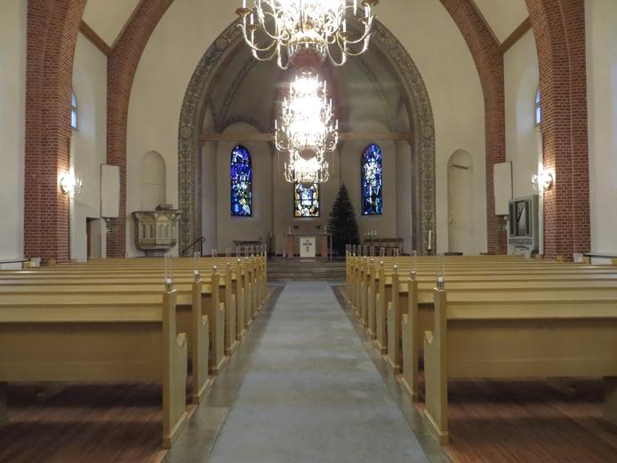 Interiör från Nässjö nya kyrka i Nässjö stad och kommun.