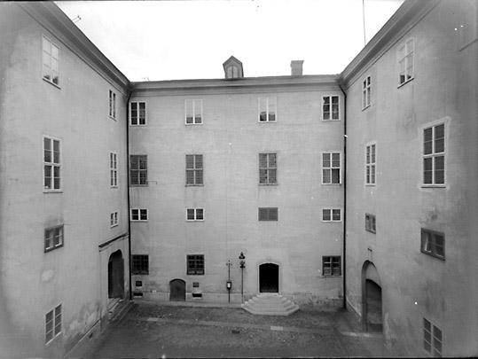 Interiör av borggården, Västerås Slott.