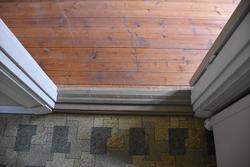 Interiör från Nygårdsgården i Bingsjö. Rum på övervåningen i