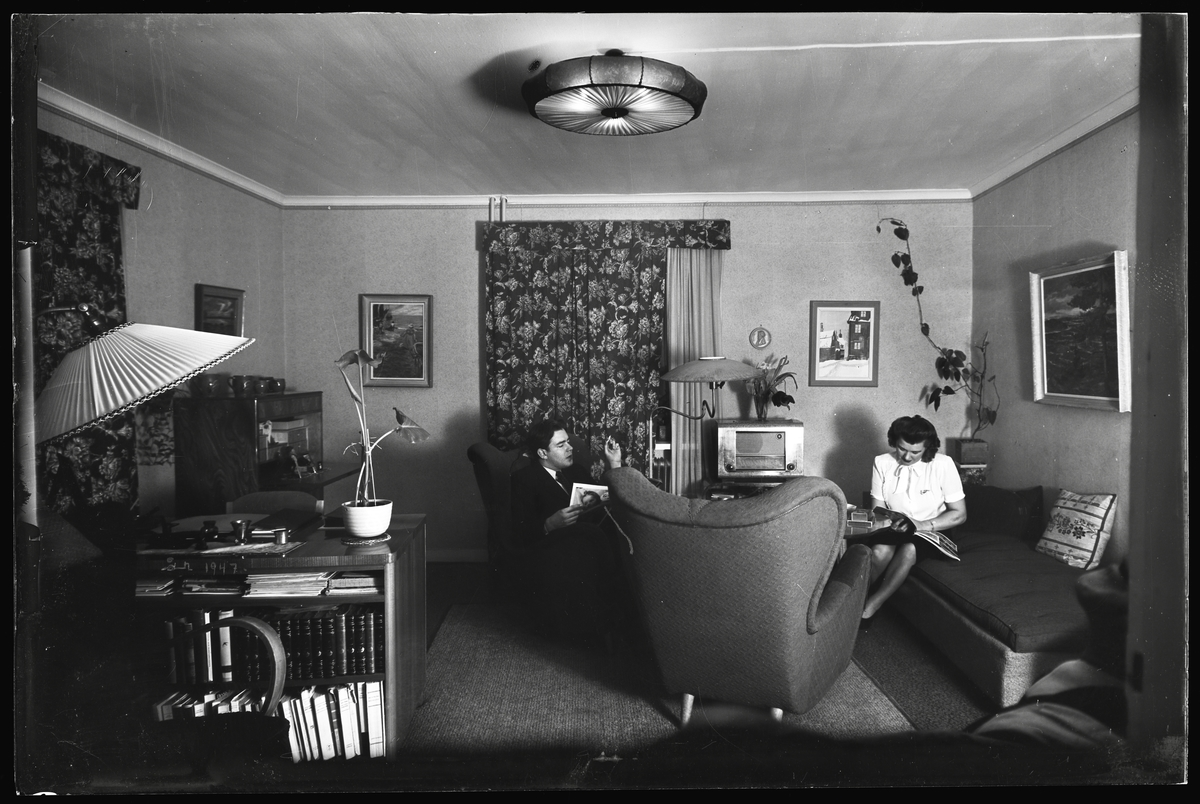 Par i vardagsrum
