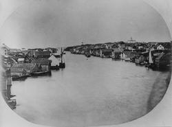 Smedasundet, indre sund, mot nord, ca. 1860.