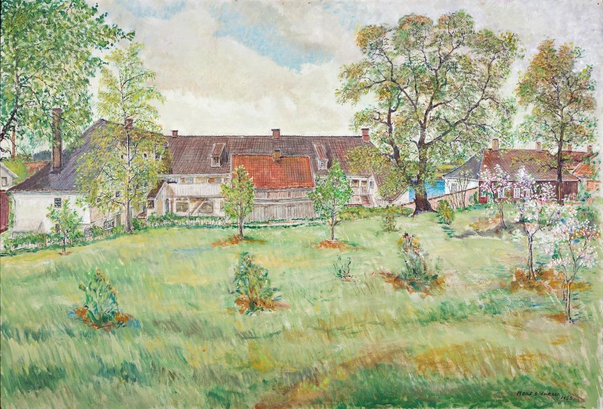 Thornegården, bakside og hage.