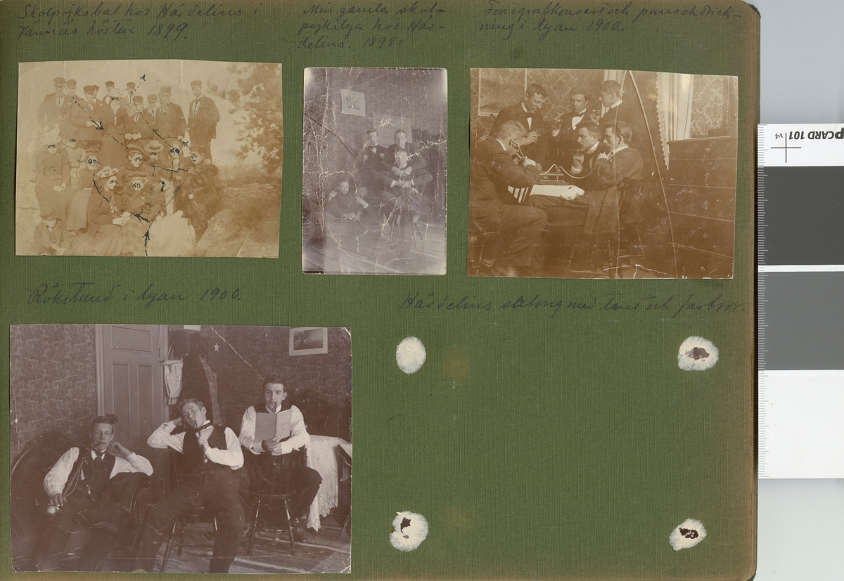 """Text i fotoalbum: """"Min gamla skolpojkslya hos Härdelins. 1898?"""""""