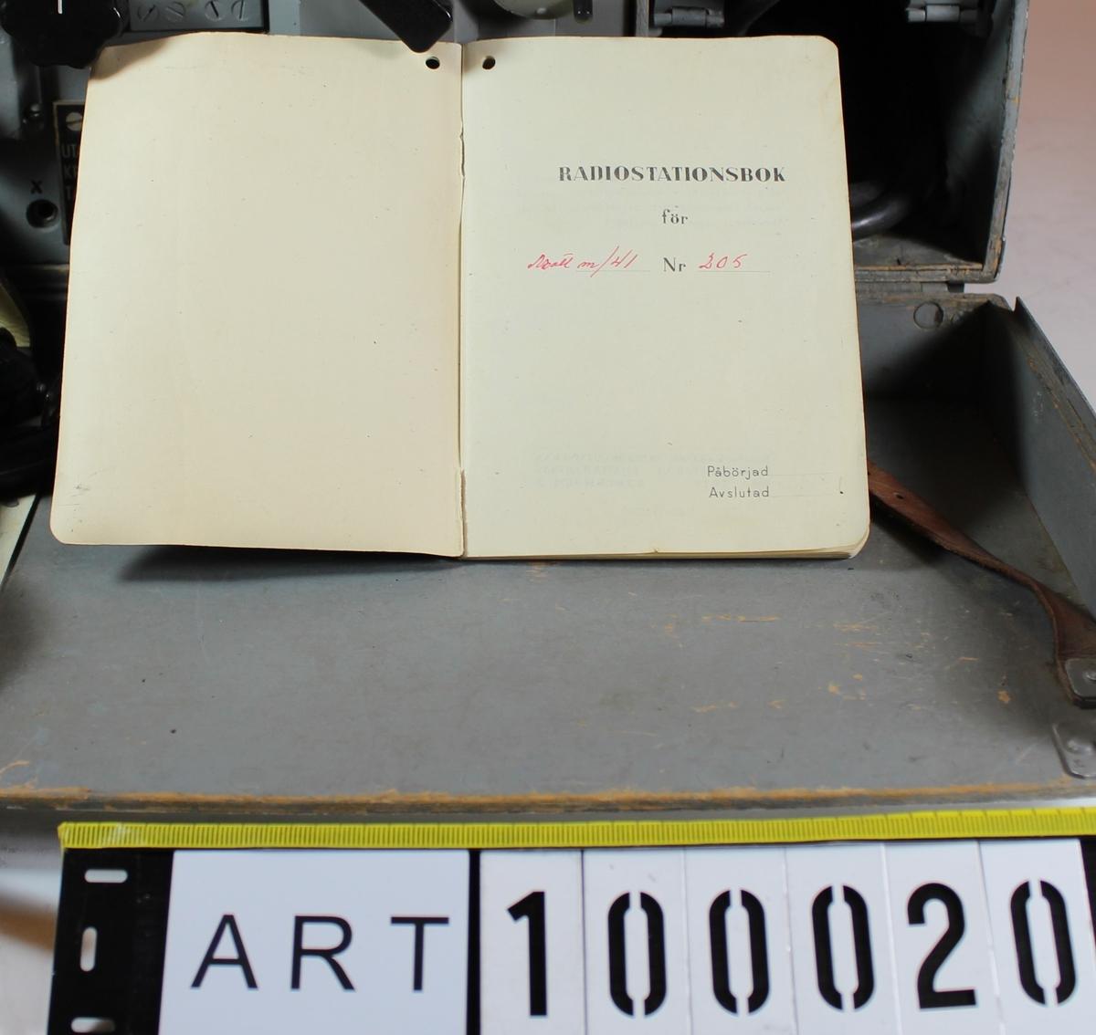 Fritext beskrivning av objekt hämtas ur instr-bok motsv.