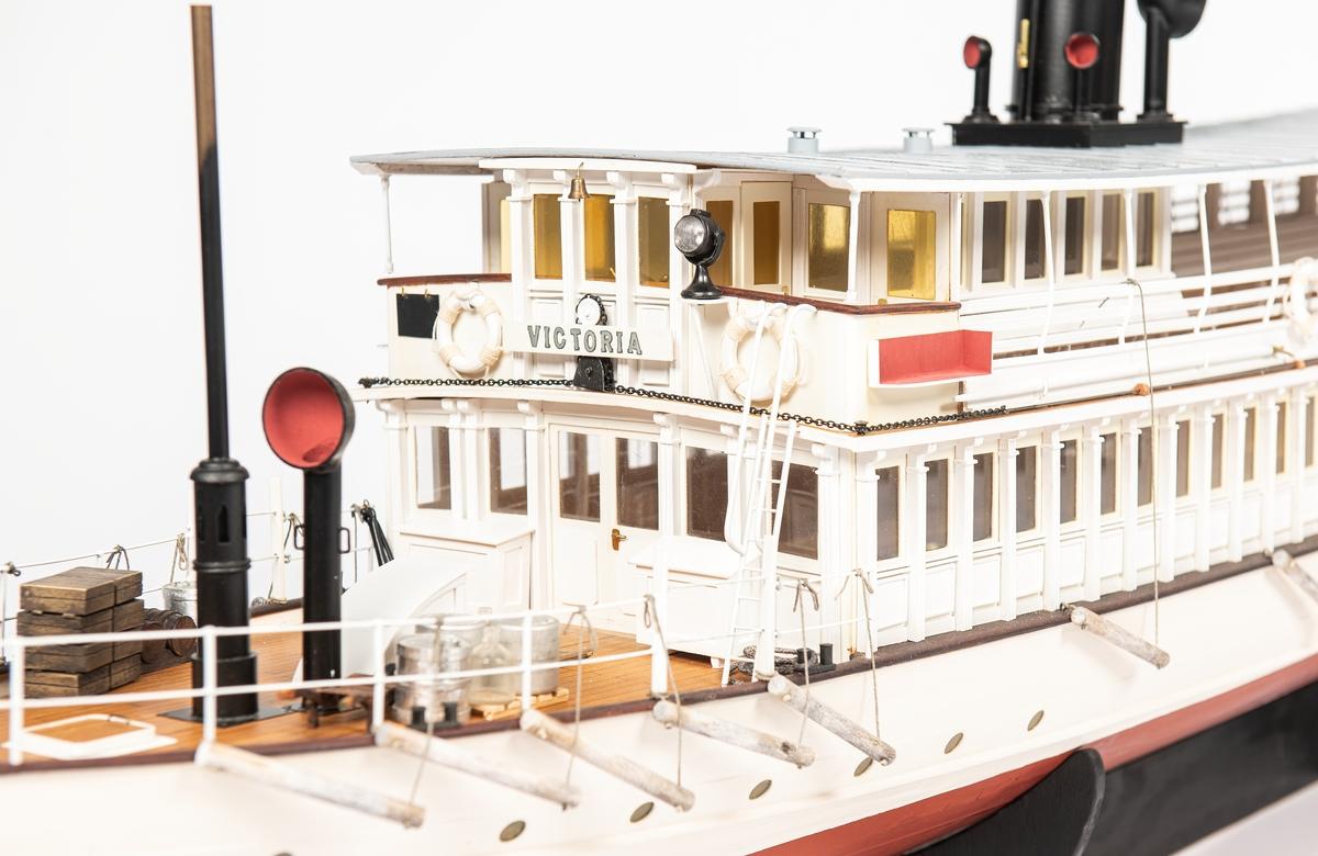 Modell av passagerarångfartyget Victoria byggd 1880.