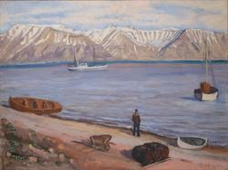 Klaes Billen Bay, Svalbard [Oljemaleri]