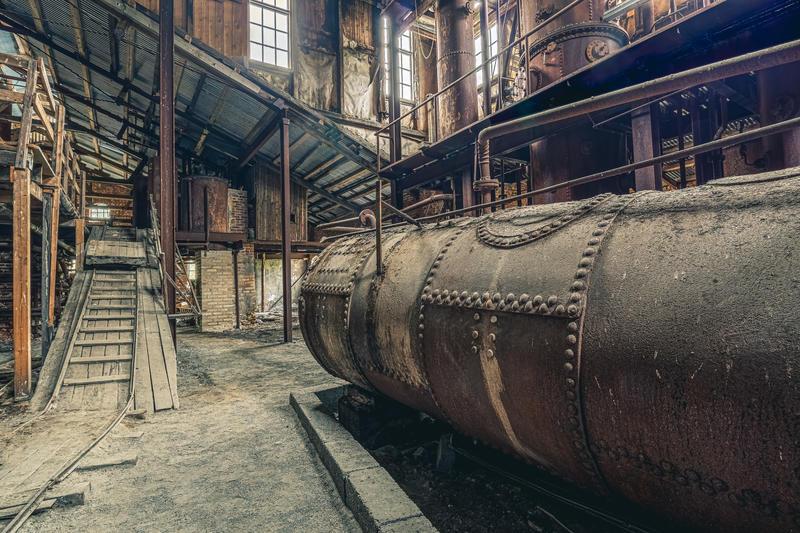 Foto: Ali Suliman /Anno museum. Bildet viser sodahuset i fabrikkbygningen ved Klevfos industrimuseum. (Foto/Photo)