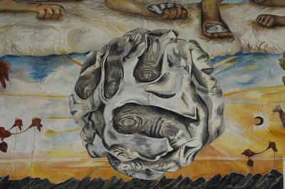 (Detail) Konsensusbilde / Consensus Image Fresco Mural 595 x 1408cm 2013 – 2015  Fotograf: Damian Heinisch