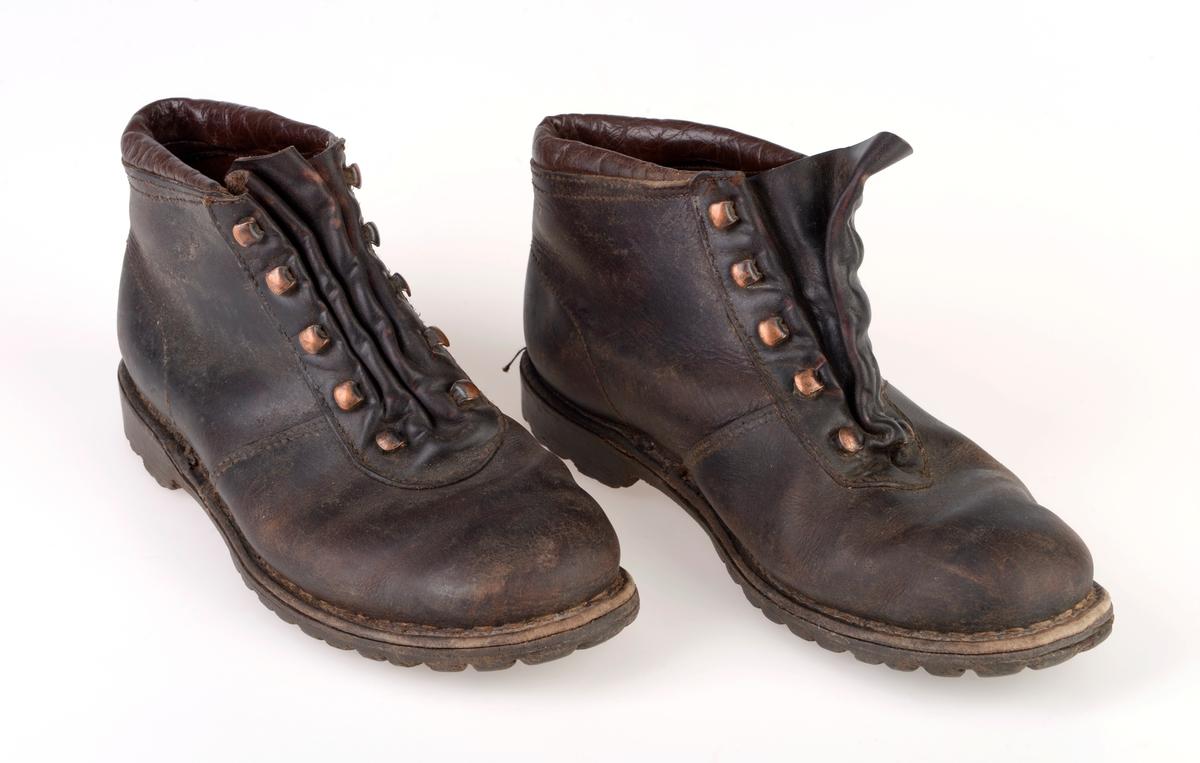 Støvler, 1 par Bergens Sjøfartsmuseum DigitaltMuseum