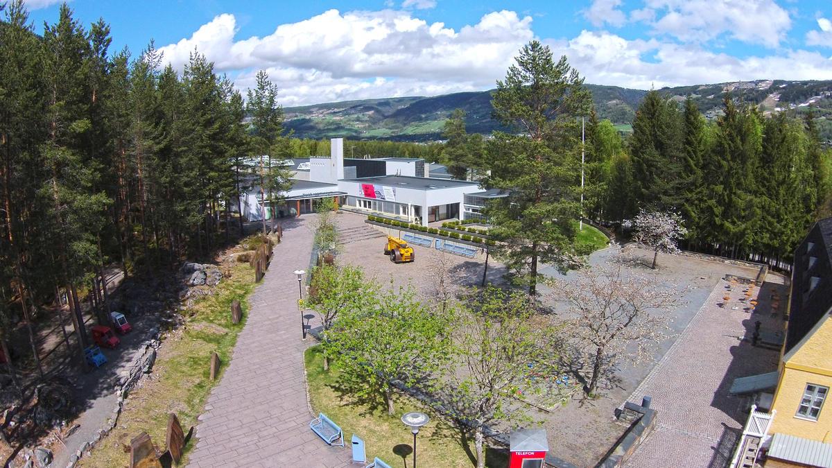 Norsk vegmuseum fra luften. Foto: Ole A. Flatmark/Norsk vegmuseum (Foto/Photo)