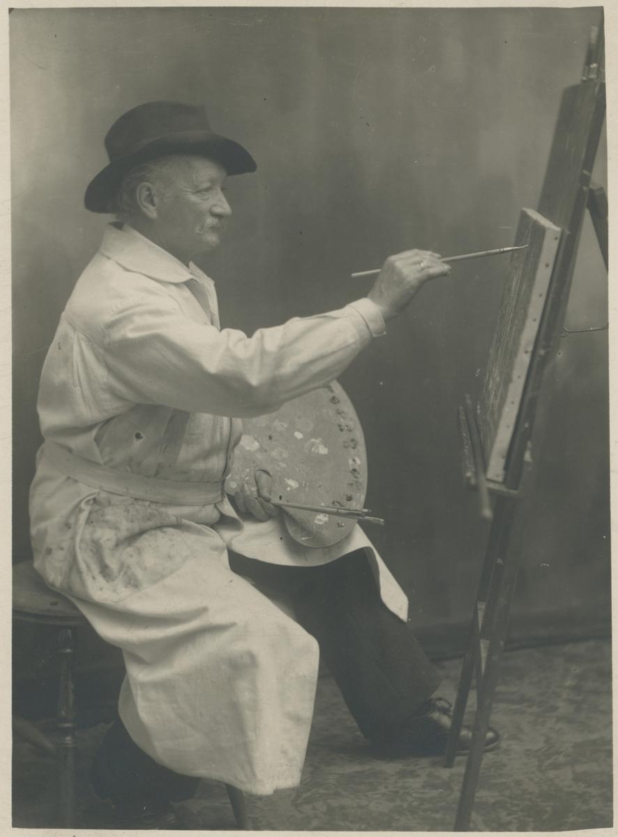 Johan Adolph Jaenzon, kunstmaler og malermester. Ukjent årstall.