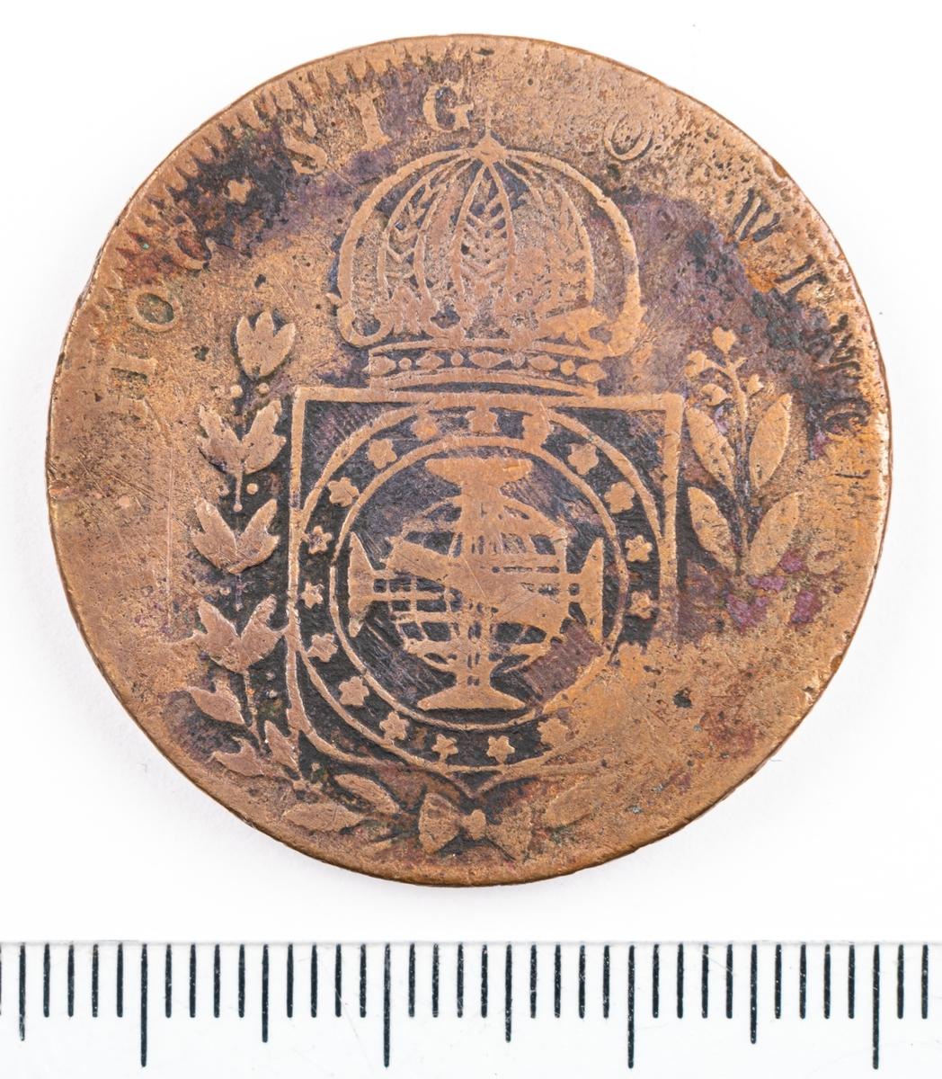 Mynt, Brasilien, 1824, 40 Reis.