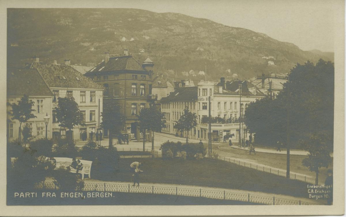 Bergen. Fra Engen, Veten. Utgiver: C. A. Erichsen.
