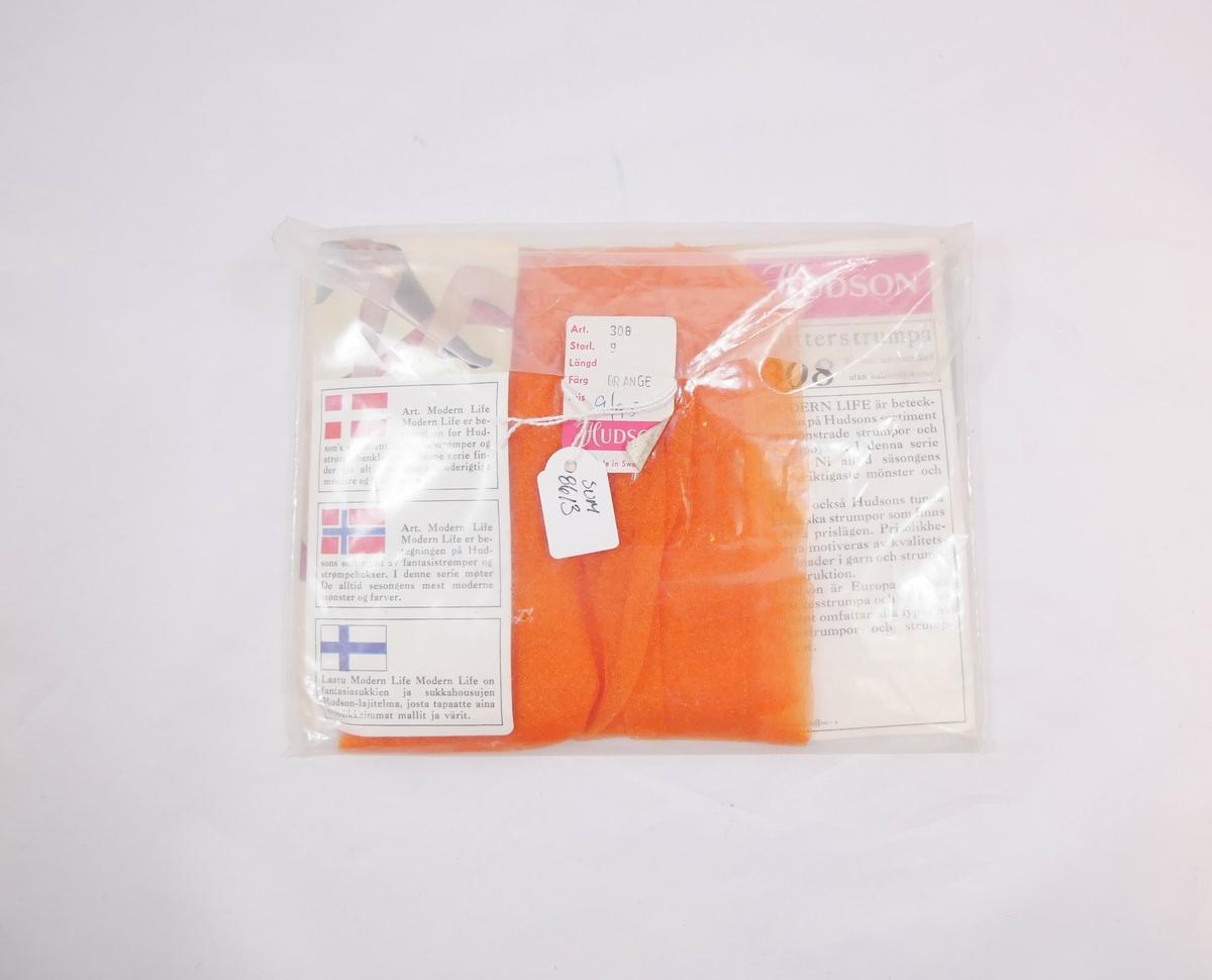 På omslag i pakninge er avbilda fire kvinnebein iført fire ulike mønstra strømpar.
