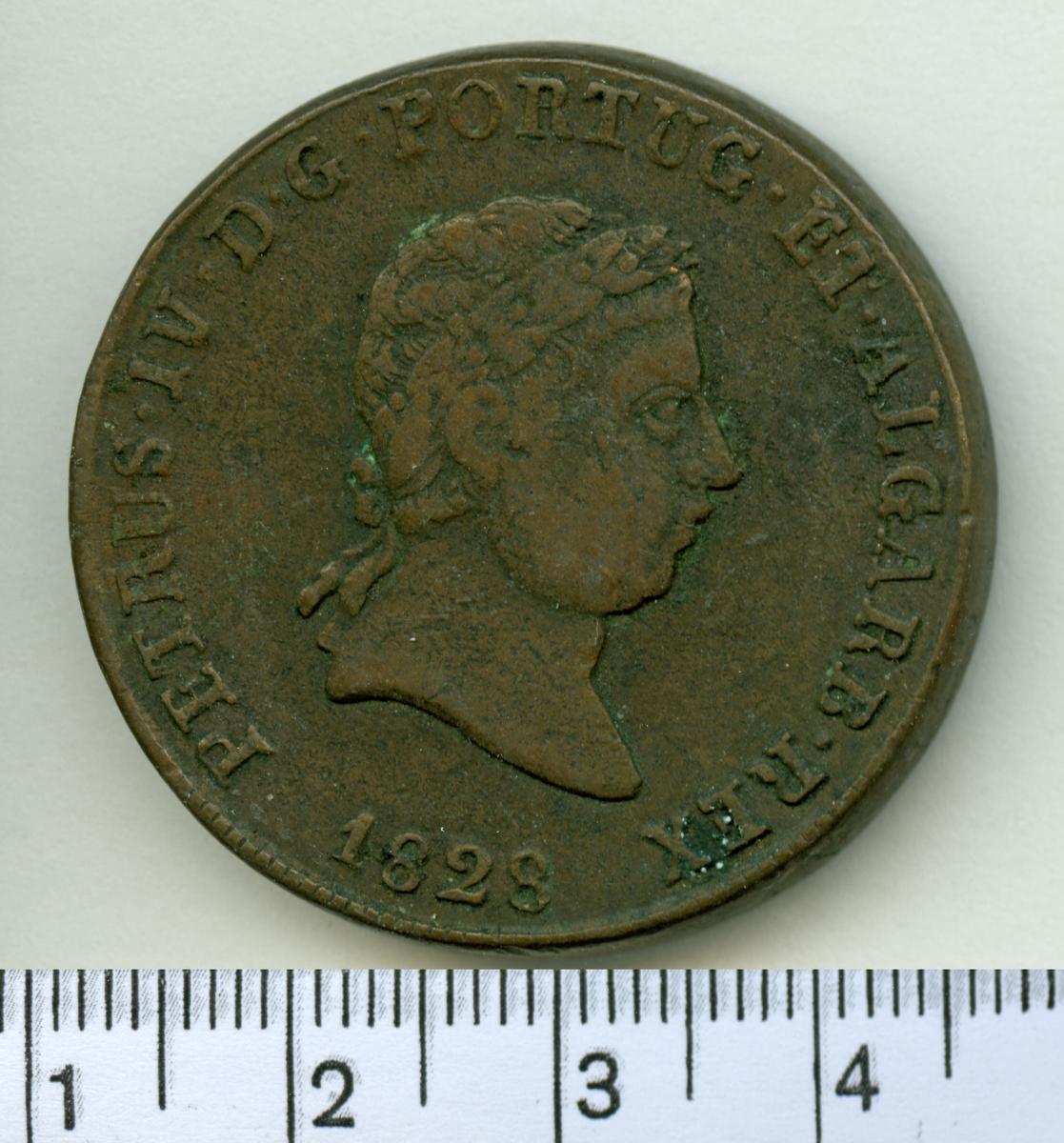 40 Reis 1828 Portugal Mikael I.