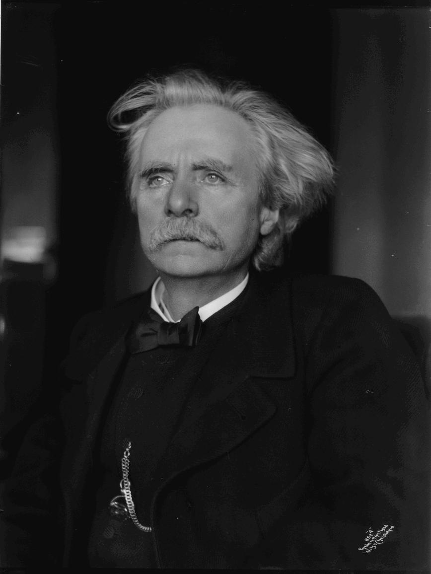 Portrett av Edvard Grieg fotografert 1906.