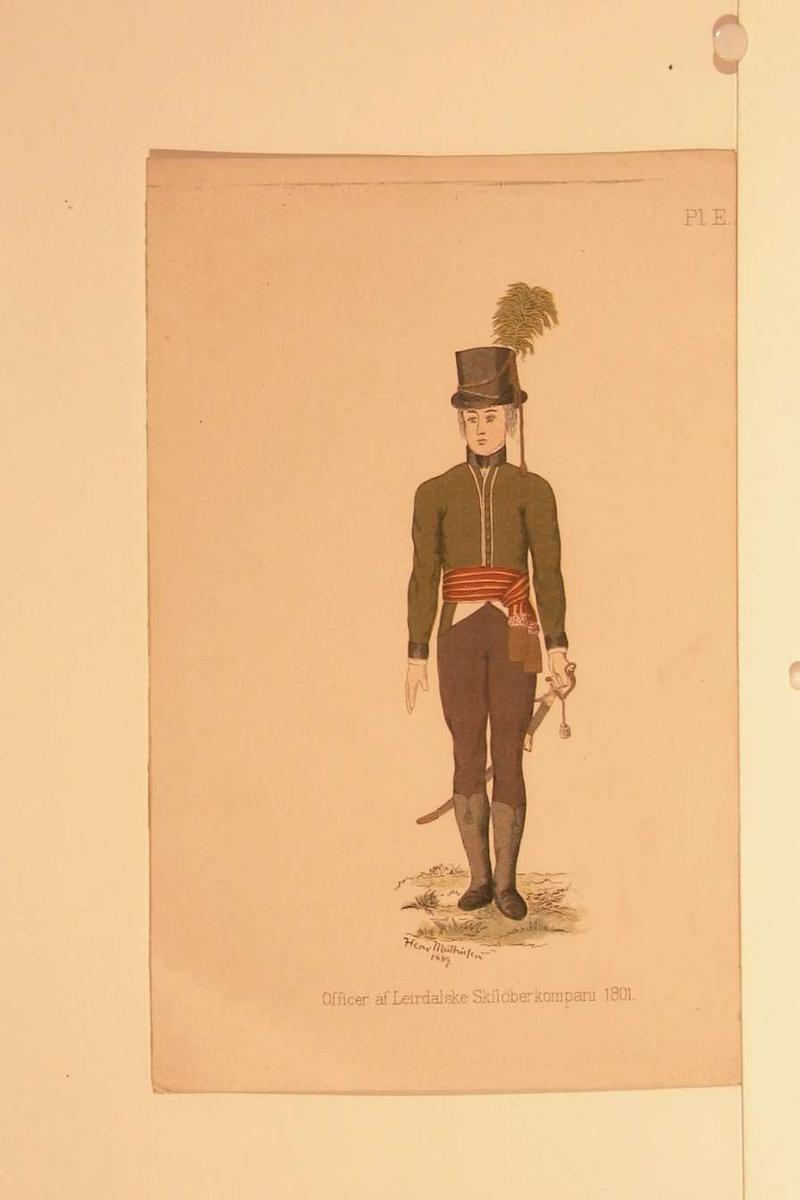 Offisersuniform fra 1801