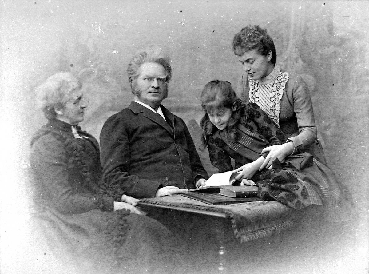 Bjørnson, familie, barn, bord, bok,