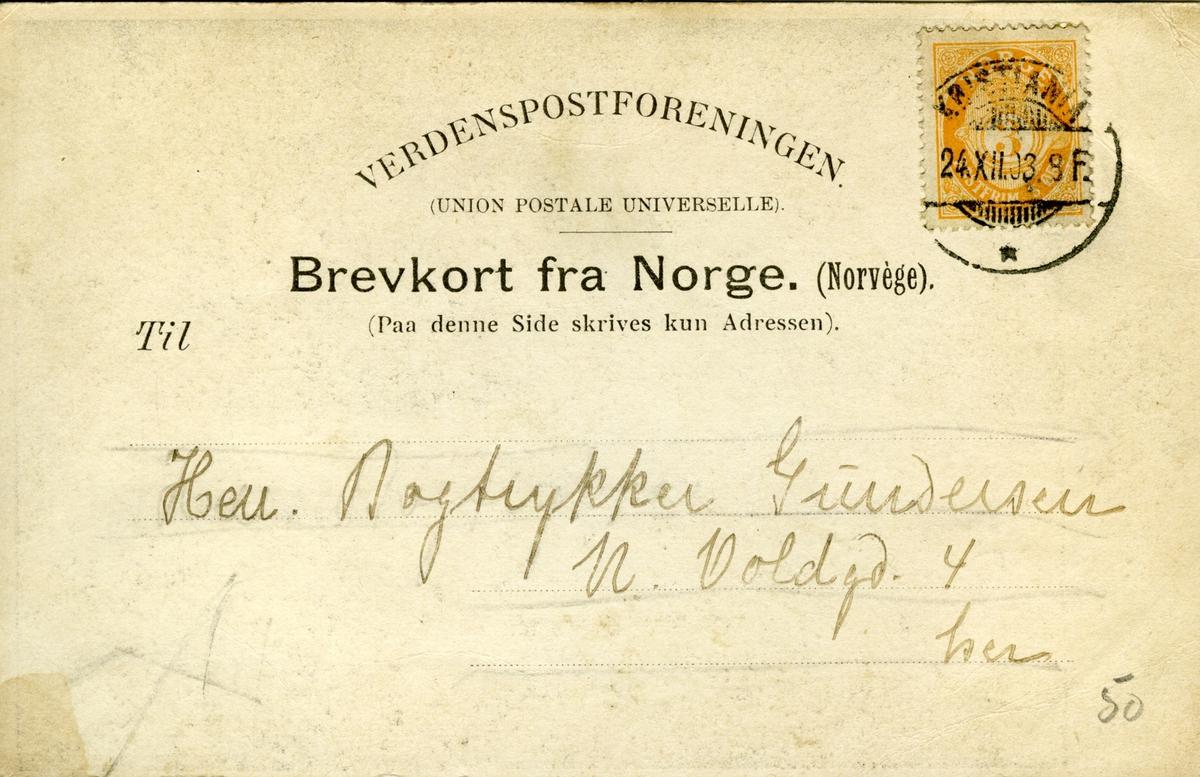 Bjørnson, Kong Oscar II, Nobelpris 1903, tegning, brevkort,