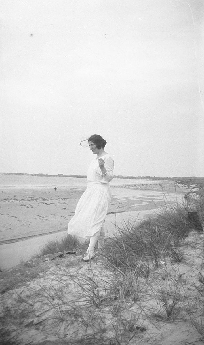 Kvinne, ukjent, strand,