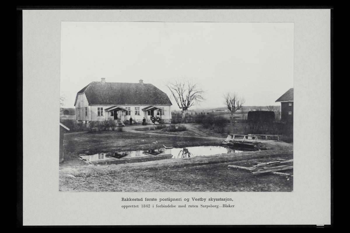 eksteriør, poståpneri, 1890 Rakkestad