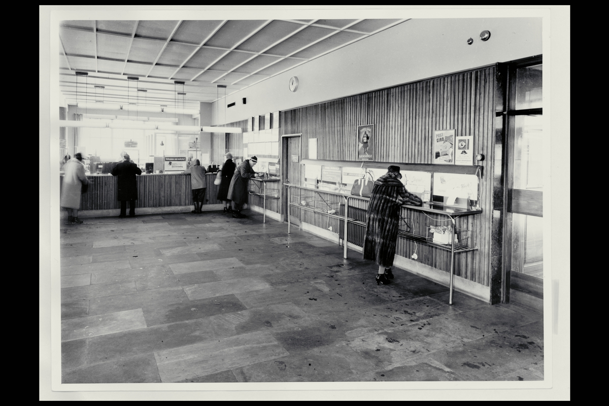 interiør, postkontor, 8000 Bodø, publikumshall, kunder
