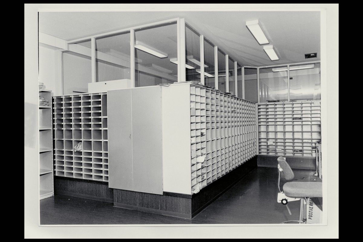 interiør, postkontor, 3100 Tønsberg, sortering