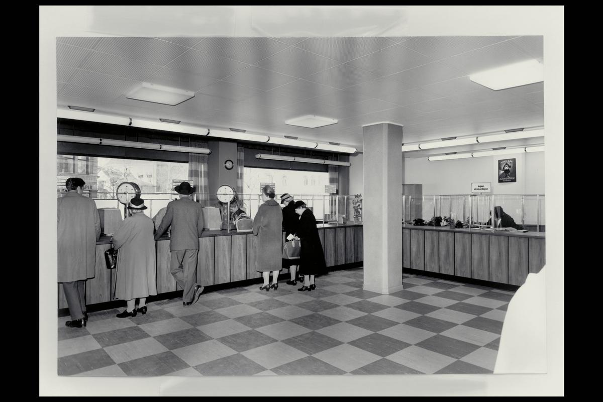 interiør, postkontor, 0306 Homansbyen, publikumshall, kunder