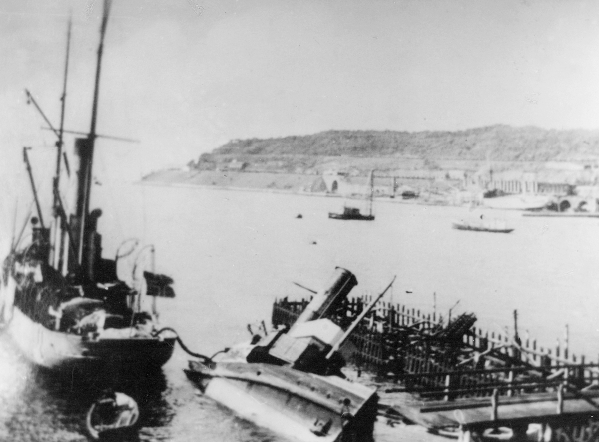 krigen, Narvik havn, eksteriør, båter