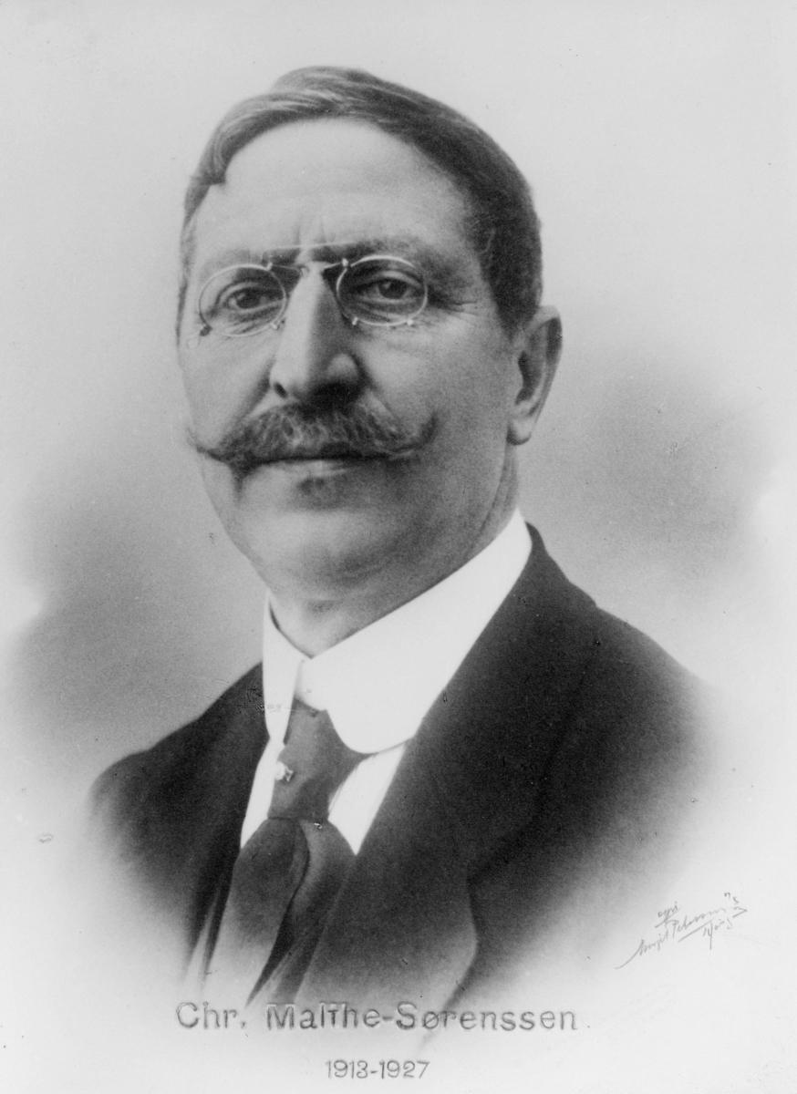 portrett, postmester, Christian Malthe Sørenssen