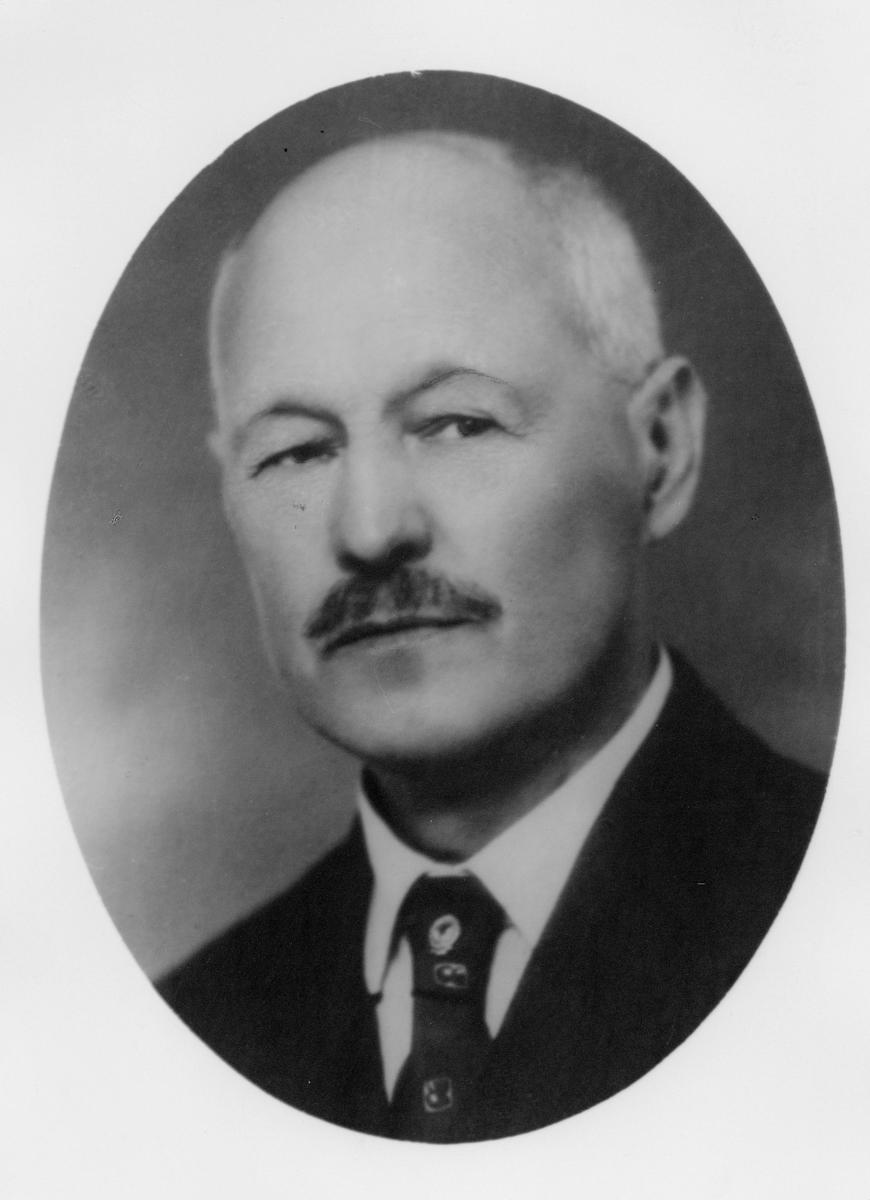 postmester, Johansen Harald Martinius, portrett