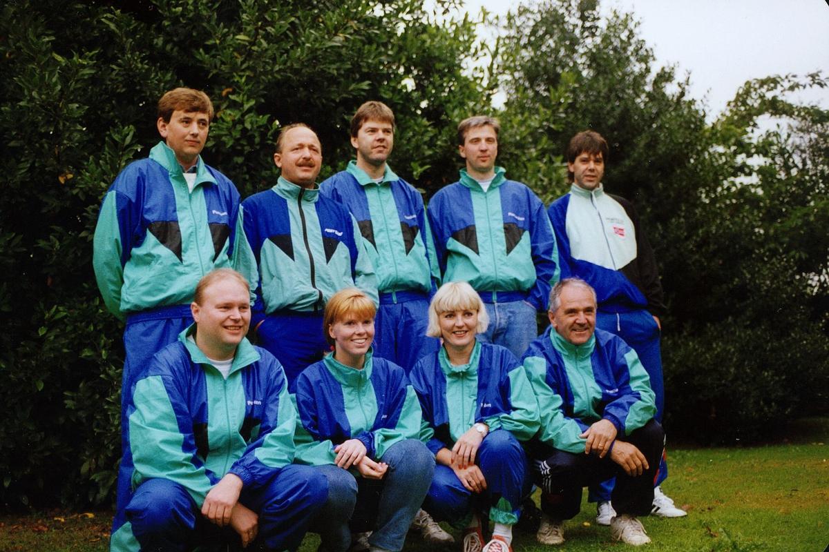 personale, postidrett, gruppebilde fra Nordisk postmesterskap i skyting